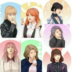BTS girls blood,seweat and tears Jikook, K Pop, Comic Manga, Bts Girl, Min Yoonji, Dibujos Cute, Bts Drawings, Fanarts Anime, Bts Chibi