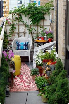 So many plants, so little space, so grab some trellises and grow up!