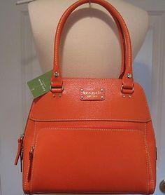 NWT Authentic Kate Spade Wellesley Small Maeda Purse Bag Tangerine Orange $395!