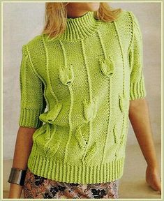 Lace Knitting, Knitting Stitches, Knitting Patterns Free, Knit Patterns, Knit Crochet, Vintage Crochet Patterns, Bolero, Knitted Flowers, Knit Jacket