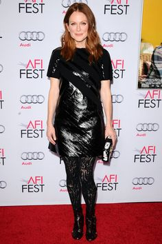 Julianne Moore wore a dress from the Louis Vuitton spring/summer 2015 collection - Still Alice premiere, LA – November 12 2014