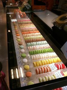 Macaroon display in osaka, japan macaron packaging, chocolate packaging, macaron store, pastry Cake Shop Interior, Bakery Interior, Cafe Interior Design, Cafe Design, Pastry Shop Interior, Bakery Decor, Bakery Display, Bakery Cafe, Bakery Ideas