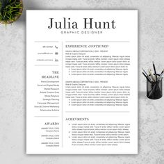 INSTANT DOWNLOAD Modern, Creative Resume/CV Template + Cover letter + Reference Letter for MS Word, Super Easy to Edit in MS Word  HAPPY NEW YEAR! BUY
