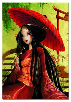"""Puzzle EDUCA """"L'ombrelle, Misstigri"""", 1.000 piezas  #japanese #japan #geisha #misstigri"""