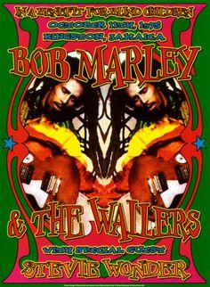 Bob Marley & Stevie Wonder, Kingston, Jamaica, 1975 Poster Print by Dennis Loren x Reggae Concerts, Reggae Music, Rock Music, Muse Music, Music Festivals, Stevie Wonder, Rock Posters, Band Posters, Event Posters