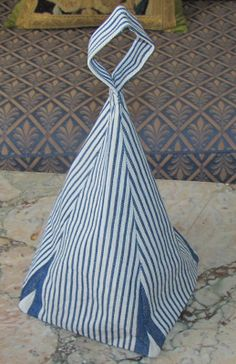 Pyramid Fabric Doorstop  Antique French by FromAFrenchAttic, £7.50