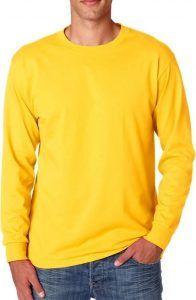 Jerzees Adult Heavyweight Blend™ Long-Sleeve T-Shirt Island Yellow King Koopa Costume, Bowser Costume, T Shirt Diy, Shirt Shop, Handsome Jack Cosplay, Mens Sweatshirts, Casual Shirts, Long Sleeve Tees, Sleeves