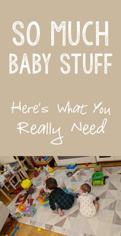 On what you REALLY NEED when preparing for baby.