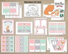 Girl Woodland Birthday Party Mega Pack // INSTANT DOWNLOAD //