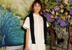 Elemental Design created the perfect backdrop for Mulberry's after show afternoon-tea and a host of celebrities, including Alexa Chung, pictured here.