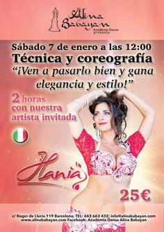 Sábado 7 de enero a las 12:00  Ven a pasarlo bien y gana elegancia y estilo con Hania, nuestra artista invitada de Italia.