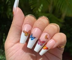 In search for some nail designs and ideas for your nails? Listed here is our listing of must-try coffin acrylic nails for stylish women. Cute Gel Nails, Aycrlic Nails, Pretty Nails, Coffin Nails, Long Gel Nails, Summer Acrylic Nails, Best Acrylic Nails, Summer Nails, Nails Ideias