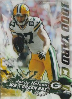 2014 Topps Chrome Jordy Nelson 1000 Yard Club Refractor Green Bay Packers #GreenBayPackers