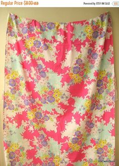 Flat 40% Off Fine Cotton Fabric Floral Print Fabric Sold by