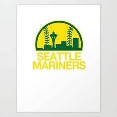 Seattle Sports Mashup Art Print by S. Preston  - LOL