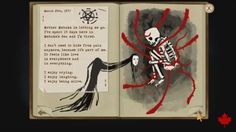 Fran Bow book page 17