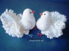 Weiße Tauben häkeln
