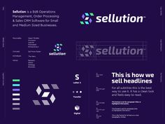 Logo Design proposal for Sellution. Sellution is a Operations Management, Order Processing & Sales CRM Software for Small and Medium Sized Businesses.Had this idea of visualizing a smar. Logos, Logo Branding, Sales Crm, Coin Logo, Brand Presentation, Learning Logo, Operations Management, Logo Sign, Application Design