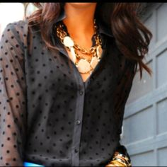 Love the blouse.