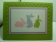Easter Bunnies by crazysuziestamper - Cards and Paper Crafts at Splitcoaststampers