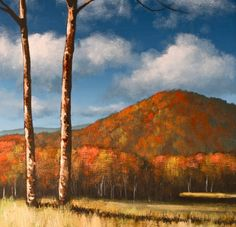 Simply Autumn – Online Painting Lesson - This lesson is about an hour and a half long. I will take you through each detail of this painting, from painting the sky, clouds, foliage covered hill to the bare trees and grass. I do a lot of close up shots to show how the brush is used to create shapes and highlights. I will also show you what brushes to use, how to mix the colors and apply the paint. Visit Tim Gagnon Studio http://www.timgagnon.com/lessons/simply-autumn-painting-lesson/