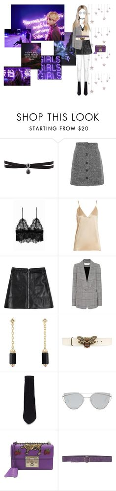 """midnight thoughts"" by rileyyteagan ❤ liked on Polyvore featuring Fallon, Topshop, Anine Bing, Raey, self-portrait, David Yurman, Gucci, Steve Madden, Gentle Monster and Carla G."