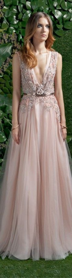 Deep V cleavage   Basil Soda couture 2015/16   Just a pretty dress