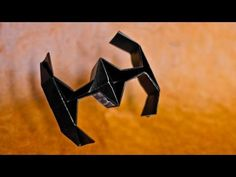 How to Make an Easy Origami Star Wars TIE Fighter - [[HD]] Origami Tie, Easy Origami Star, Gato Origami, Star Wars Origami, Origami Boat, Origami Dragon, Useful Origami, Origami Stars, Origami Paper