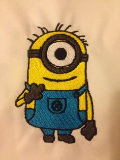 This adorable minion is available for Instant Download to your Embroidery…