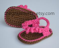 Baby Infant Girl Shoes Crochet Baby Sandals by TheGrapeTurtle, $22.50