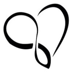 If the left side was left open at the bottom this would be a great Cancer ribbon tattoo!!