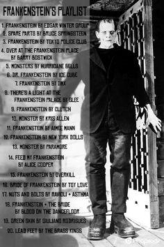 Time to get funky with Frankie! Frankenstein's playlist #Halloween #Music #Playlist