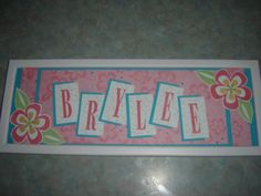 Daughters Name Frame by girl3boys0 - Cards and Paper Crafts at Splitcoaststampers