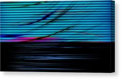 Lines Canvas Print featuring the mixed media In Living Color 4 by Marvin Blaine