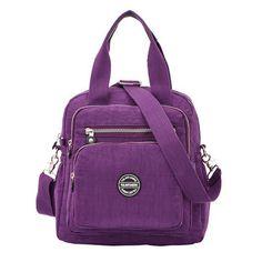 8ad6d7502ac07 Multifunctional Waterproof Nylon Capacity Backpack Shoulder Bags Crossbody  Bags Handbag For Women is designer