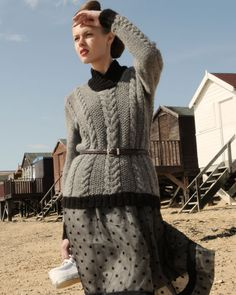 Geronimo Jumper - inspired by traditional aran knitting.