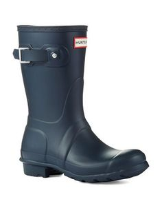 Hunter Original Short Boots Women's Navy 7