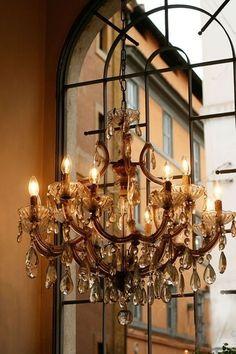 Antique Chandelier, Chandelier Lighting, Crystal Chandeliers, Simple Chandelier, Glass Chandelier, Cozy Corner, Beautiful Lights, Decoration, Light Up