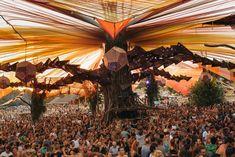 Le Ozora Festival et ses décorations psychédéliques hors normes #psytrance #festival #trance #psychédélic
