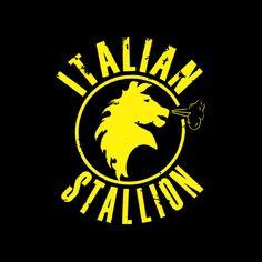 Camiseta Rocky Balboa. Italian Stallion, negra