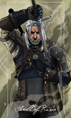 Digital painting of the Witcher Geralt of Riva. I wanted to blend graphics into the artwork to make the final piece pop. - Winner of CG Spectrum Film and Game School 2015 Game of the Year fan art competition - The Witcher 3, The Witcher Wild Hunt, The Witcher Books, Witcher Art, Witcher 3 Geralt, Witcher Wallpaper, Character Art, Character Design, Ciri