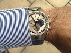 Today's #WOMW #WatchWednesday #wristshot is the other color of the Zenith Watches El Primero 36,000 VpH.