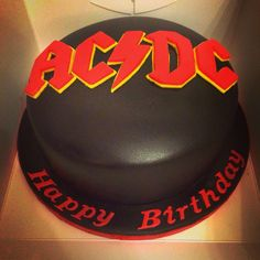 AC/DC cake. Took a fair amount of time to cut the letters free hand, but pleased with the result
