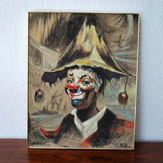 Mid-Century Clown Painting, by Junk2Funk
