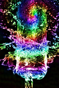Neon Rainbow. A frozen in moment water shot. I love how different water can look when frozen by the camera.