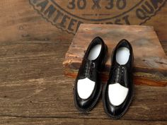 Miniature mens wing tip plastic shoes by Misinterpreted on etsy