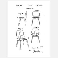 Eames Plywood Chair Black by fabpats