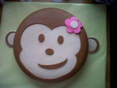 Monkey cake.  Birthday cake.