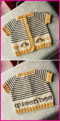 Baby Knitting Patterns, Crochet Pattern Free, Knitting For Kids, Knitting Stitches, Baby Patterns, Free Knitting, Knitting Projects, Knit Crochet, Loom Knitting