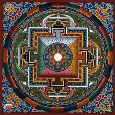 Mandala: The Sacred Art of Tibetan Buddhists Mandala Art, Mandala Painting, Mandala Drawing, Mandala Design, Tibetan Mandala, Tibetan Art, Tibetan Buddhism, Buddhist Art, Sacred Geometry Art